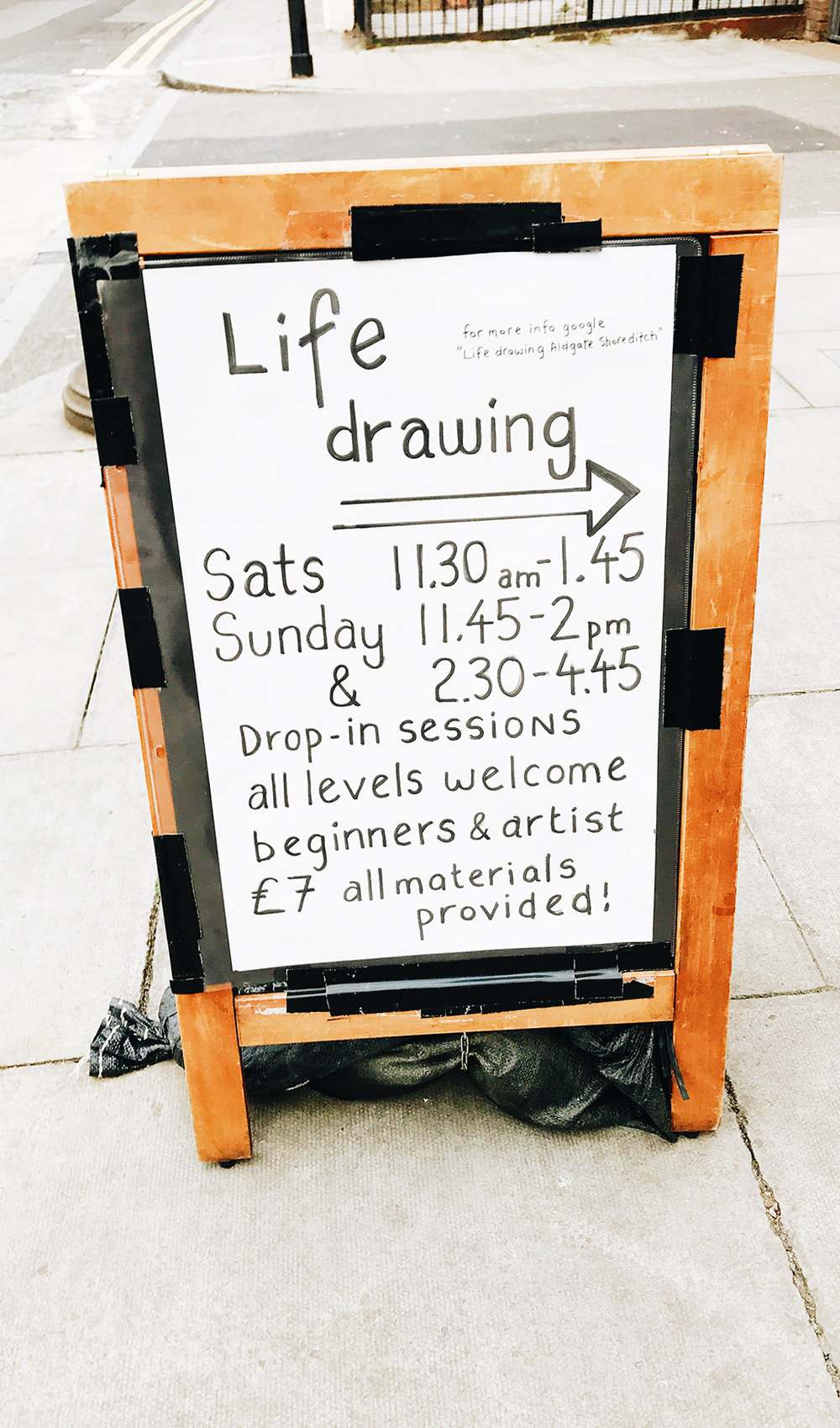 Life Drawing in Aldgate and Shoreditch