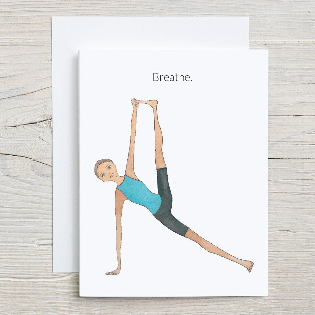 Yoga Birthday Cards, Side Plank Pose — Andi's People