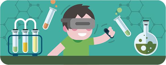 能動的な参加を促せる   学習ビデオなど、映像などではどうしても受動的な体験となってしまう授業も、VRであれば受講者に視点や手を動かすなど、能動的な参加を促すことができます。