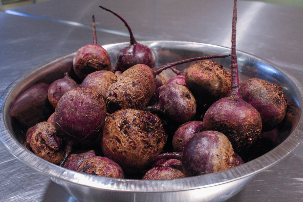 Local beets from Johnson's Backyard Garden