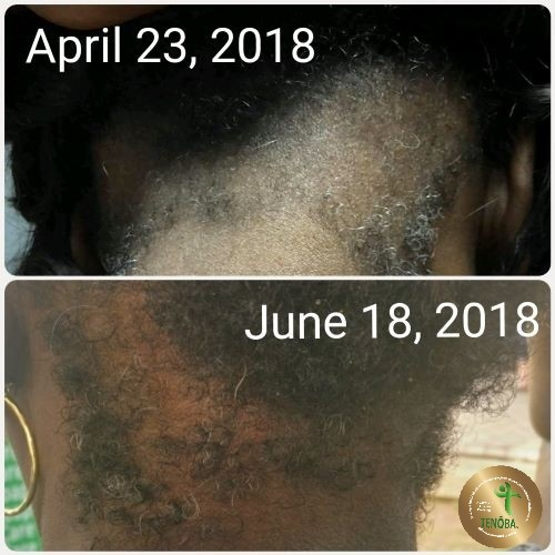 Client Using Hair Serum