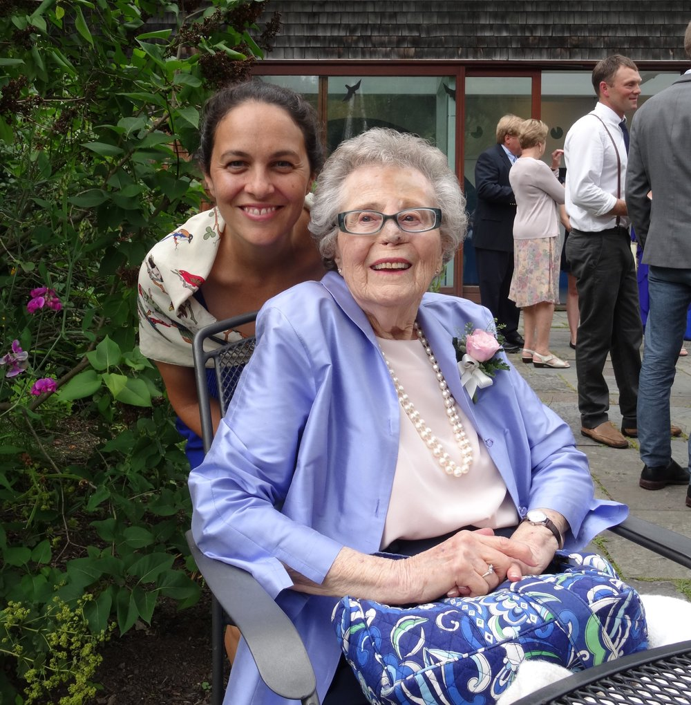 Phoebe Brush, owner and lead filmmaker at Senior Portrait Films, with her grandmother, Harriet.
