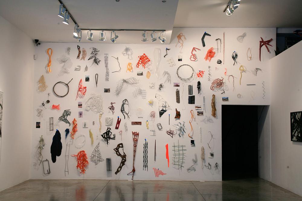 Installation view:  Marañas ,   Arróniz Arte Contemporáneo, México D.F., México, 2011