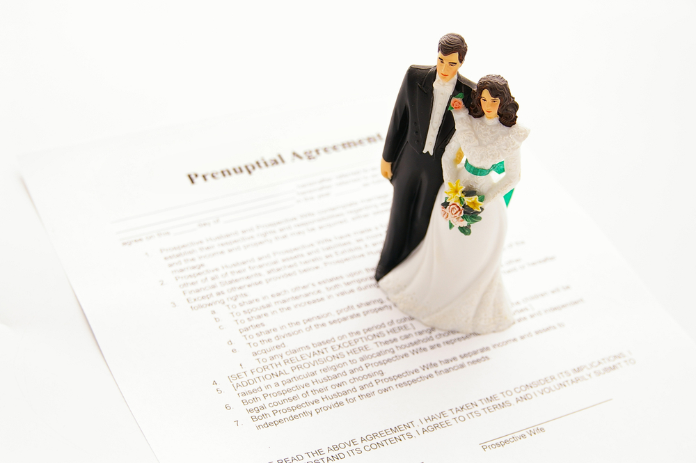 Prenuptial Agreement With Bride & Groom