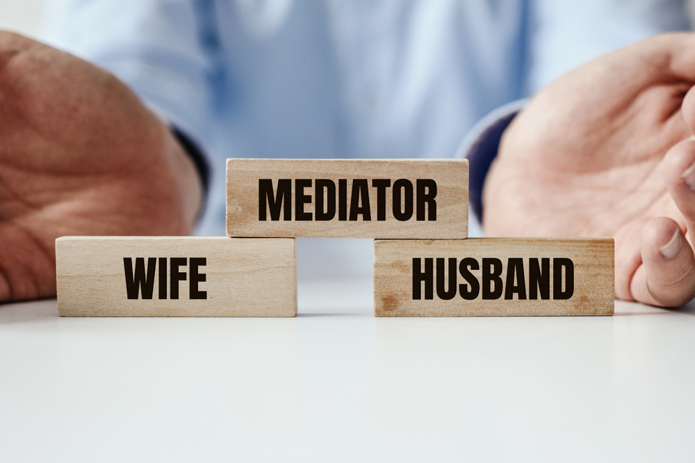 A model picture of wife and mediator with husband