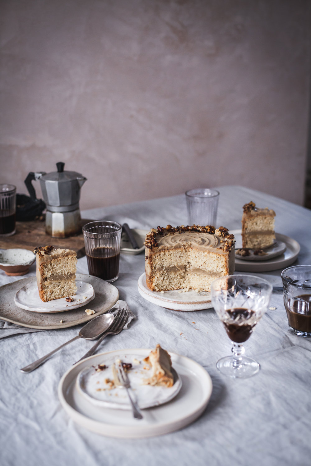 ... caramelised walnut and chestnut cake ... #recipes #vegan