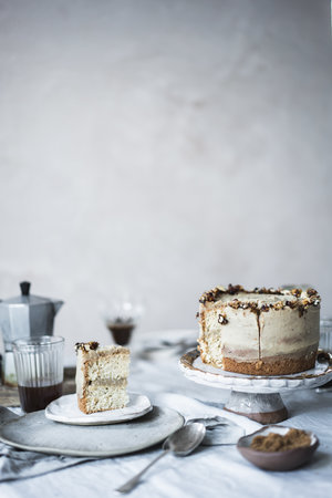 ... caramelised walnut and chestnut cake ... #vegan #recipes