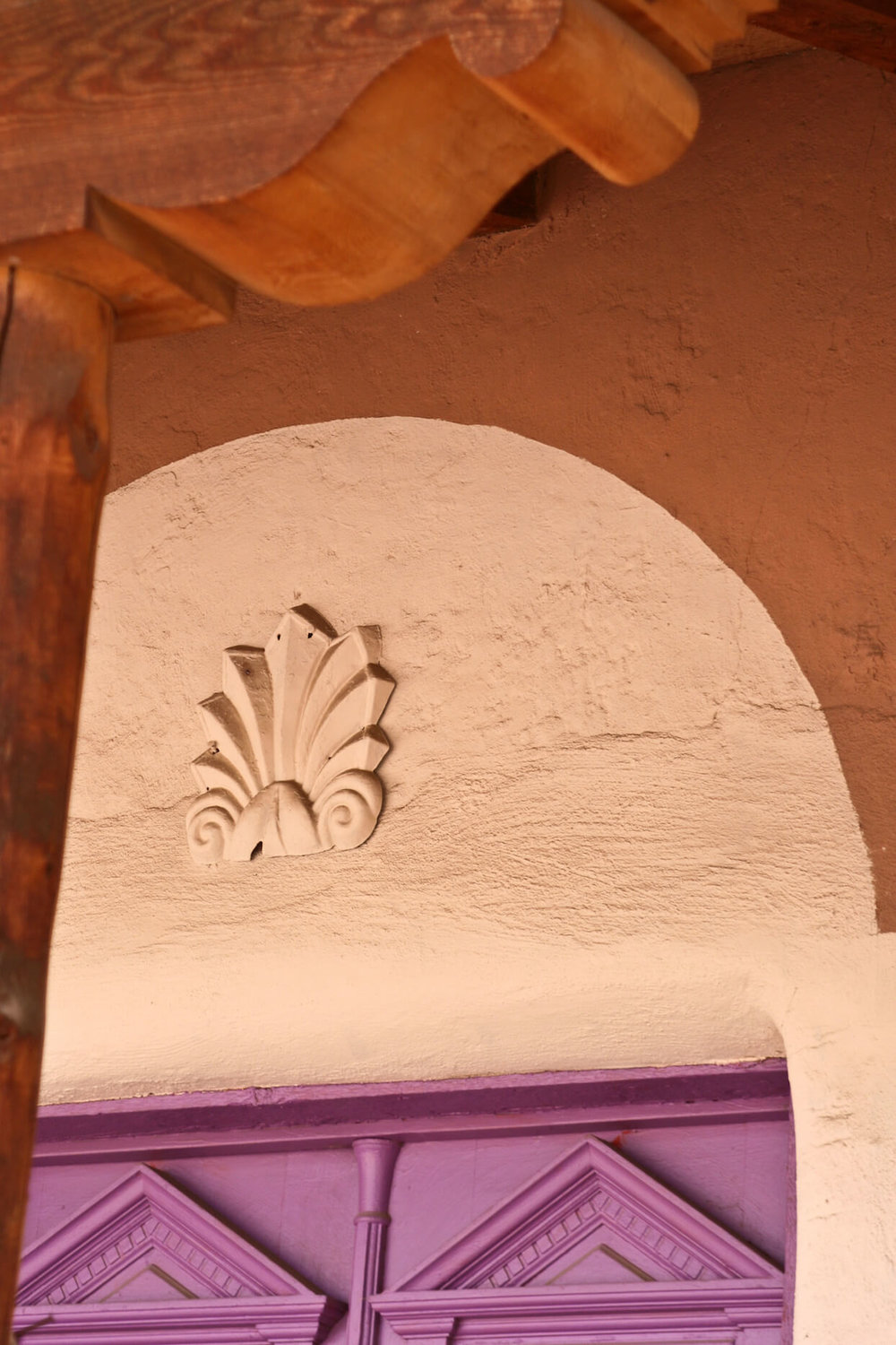 Purple Door with Corbel