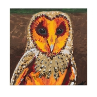 """Gent Abundance, Affirming Owl series, Acrylic, 6""""x6"""" gallery (self-standing) canvas, $120, ORIGINAL AVAILABLE & Prints Available for $50"""