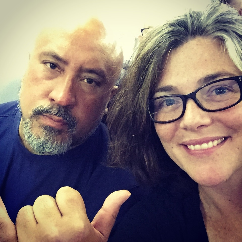 Awesome hubby and I on a plane at the onset of our 24 hour journey to Athens, Greece.