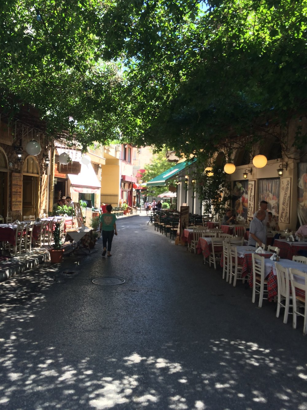 The Plaka - a wonderful spot in Athens for incredible food. Gyros and a crema are a MUST!