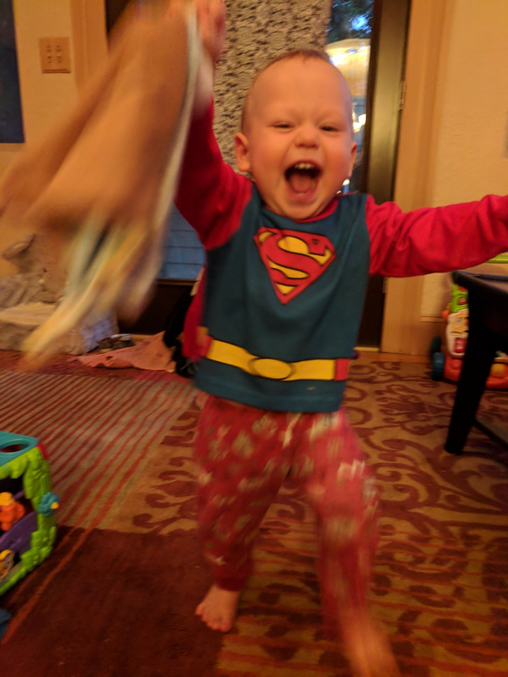 Super Sam walking - 12 months