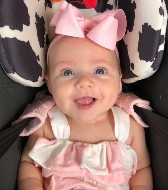 """My sweet girl, Emma, 4mo old. She is an angel sent from heaven!!""  Embryo adoption mother of two"