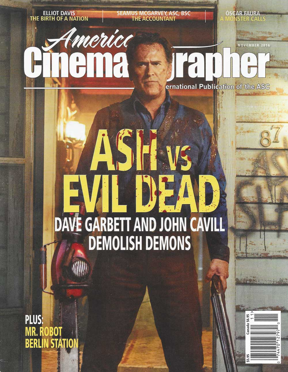 American Cinematographer Magazine Cinefade press cover