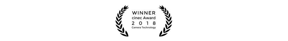 Cinefade Winner cinec Award 2018 for Camera technology
