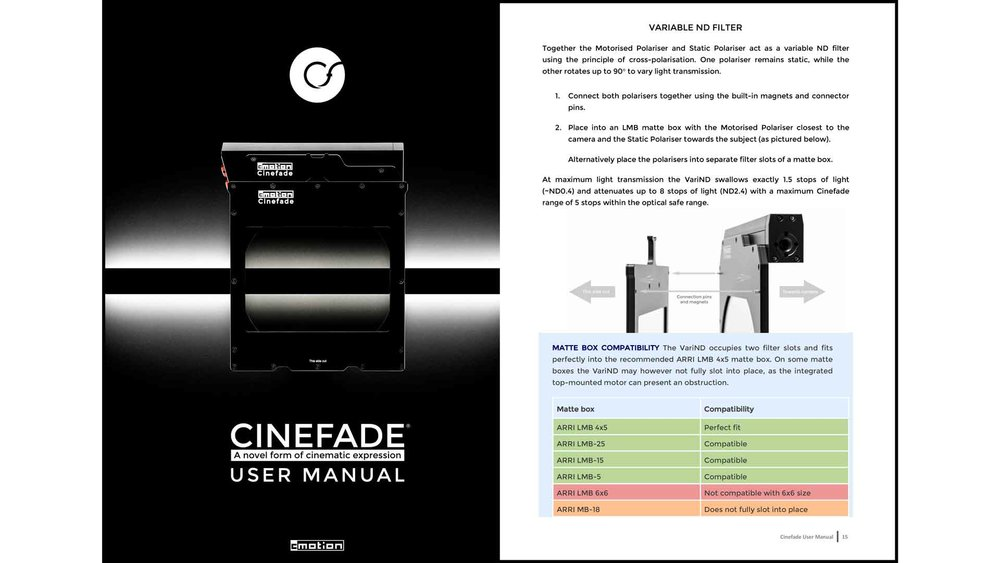 Cinefade User Manual cover