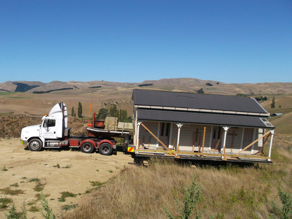 2013 - We relocate a 1910's Farmstead Villa to Waikareao Road and begin making it our new home and business