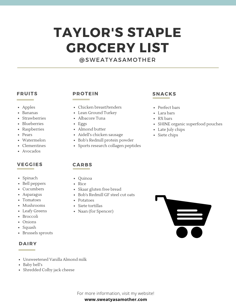 "Our ""Must-Have"" Healthy Grocery list items"