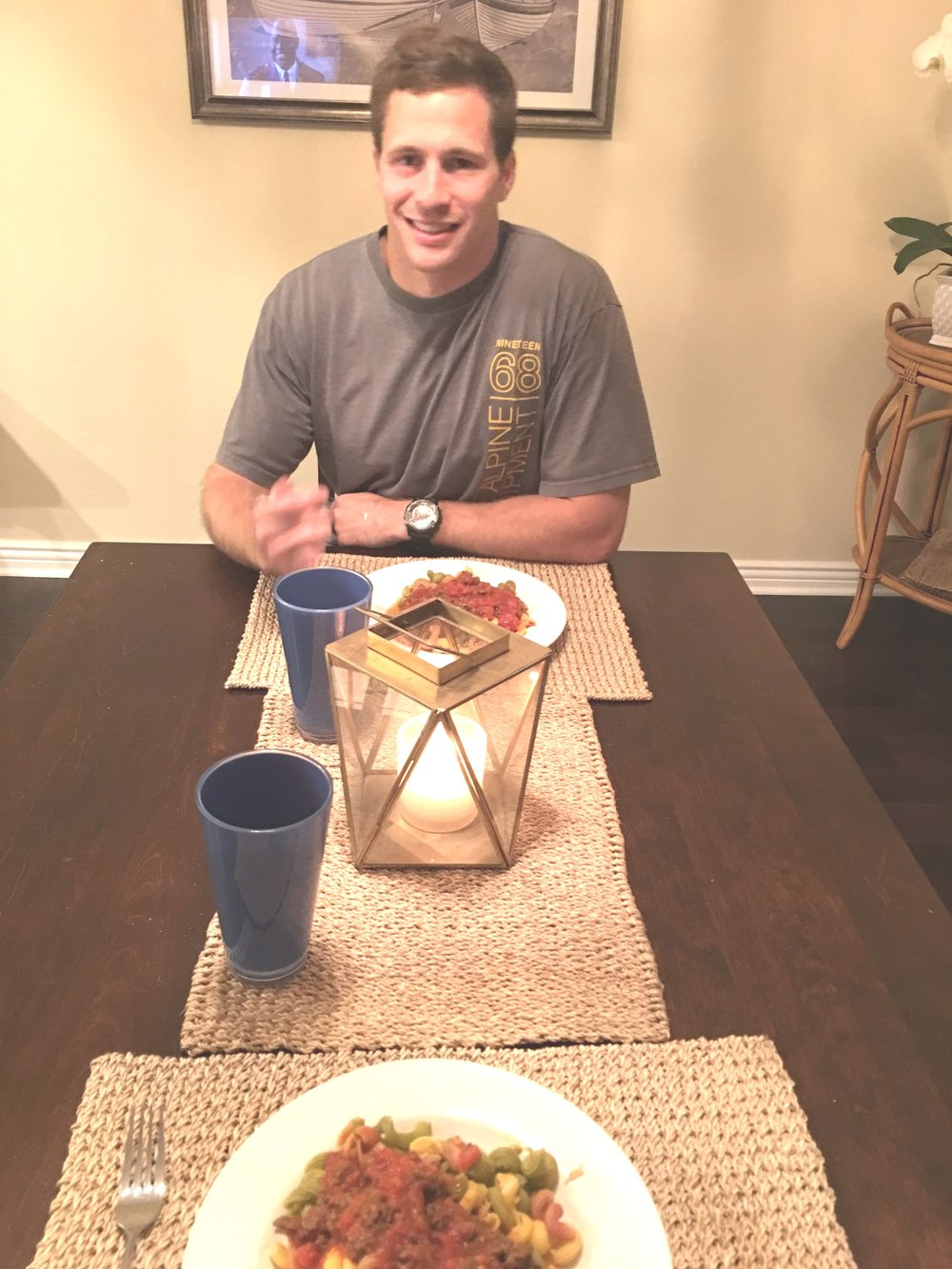 He surprised me with an at home dinner date