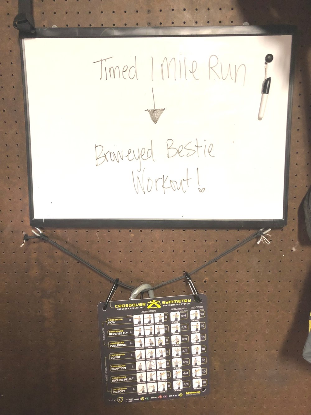 My board in the garage. If you haven't tried this  workout  you should!