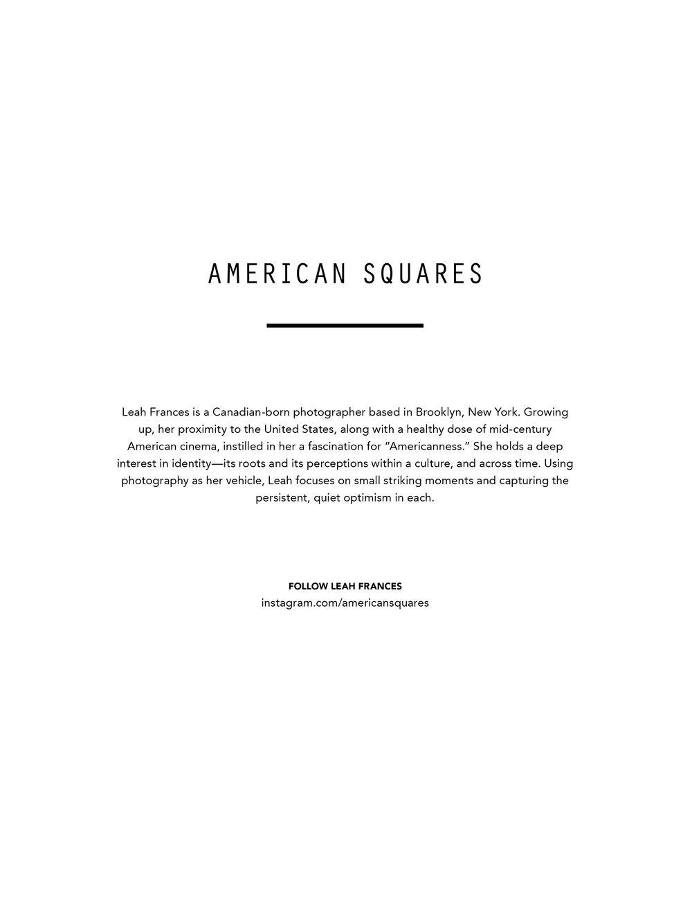 "Teo Magazine (Australia), ""American Squares"""