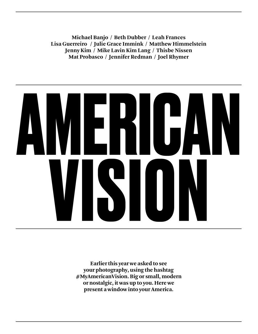 "Us of America Magazine, ""American Vision"""