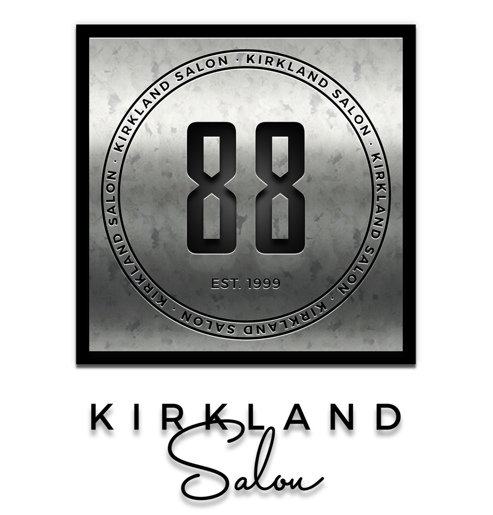 88 Kirkland Salon Logo [at 76 x 76][grunge metal][v5][drop][ fused 9 x 9] by Graham Hnedak Brand G Creative 06 SEPT 2018.png