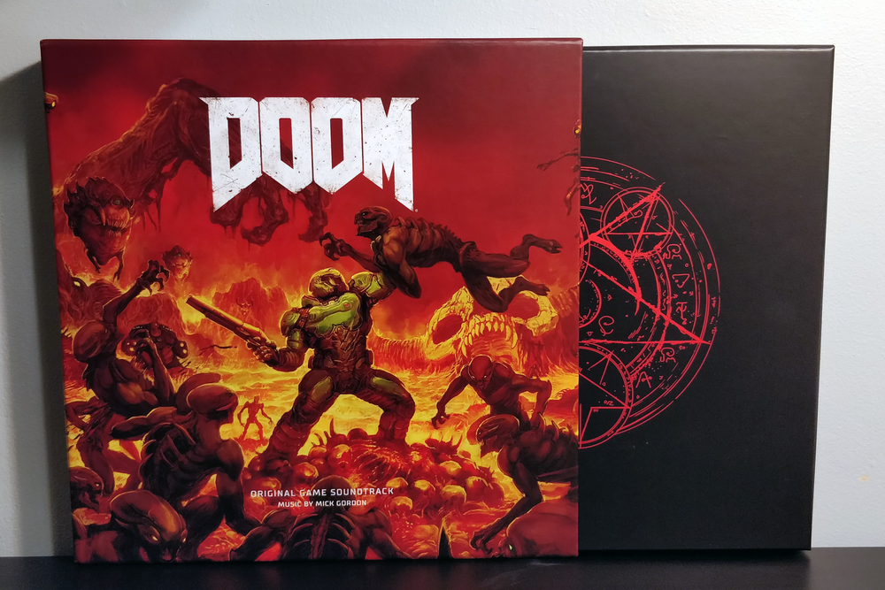 DOOM by Mick Gordon pressed on red vinyl by Laced Records