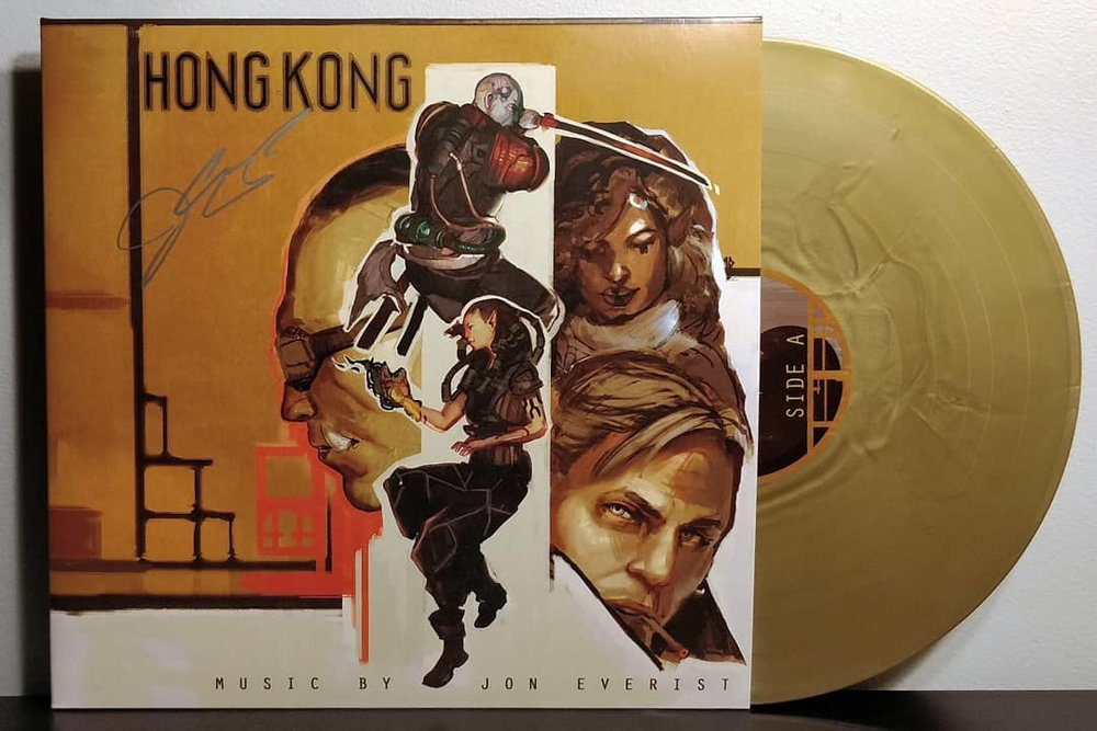 Shadowrun: Hong Kong pressed on gold and silver vinyl by Black Screen Records