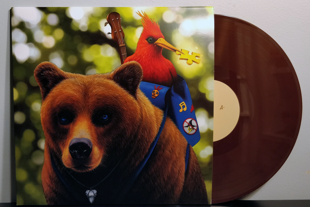 "Banjo-Kazooie pressed on ""Banjo Brown"" & ""Kazooie Red"" vinyl by iam8bit"
