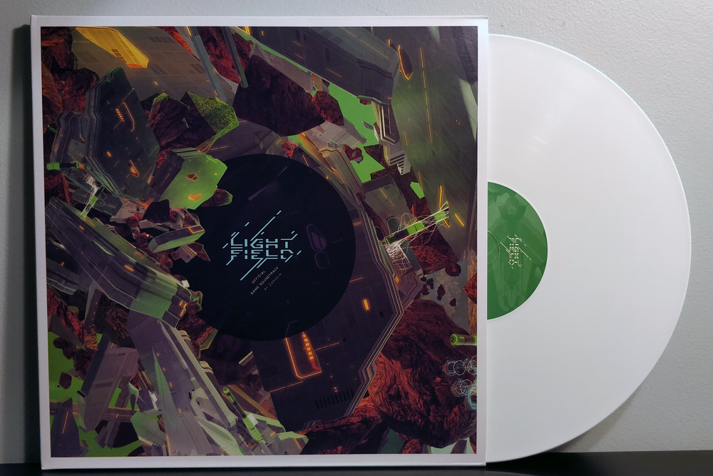 Lightfield by Zanshin pressed on white vinyl by Minimum Records