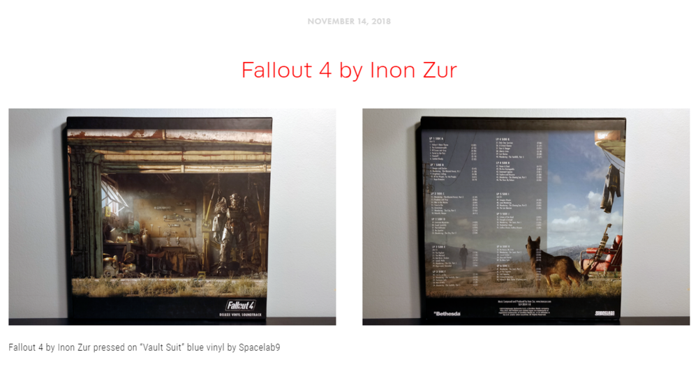 """Blog Post #9 - """"Fallout 4's soundtrack has all the musings one could hope for in an orchestral view of bombs not long since dropped."""""""