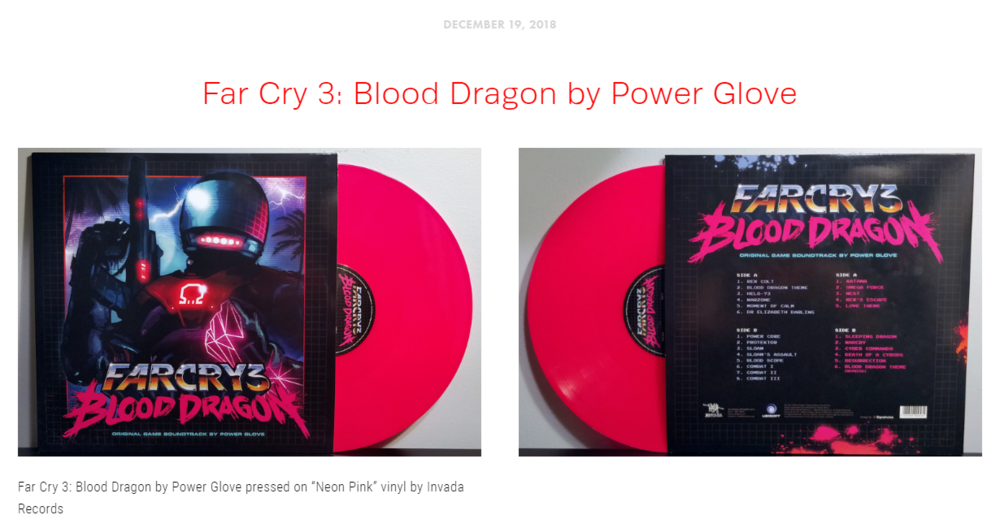 """Blog Post #14 - """"Blood Dragon is a radioactive fuzz for your ears to enjoy!"""""""