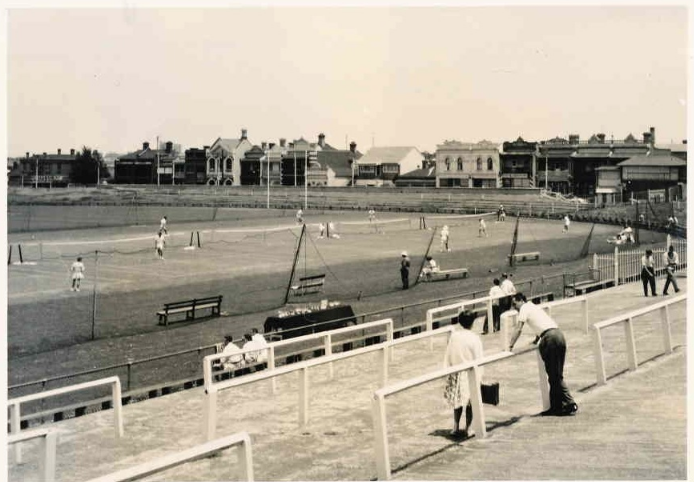 In the 1800's tennis, cricket, football, bowling and baseball were all played on the Brunswick St Oval.