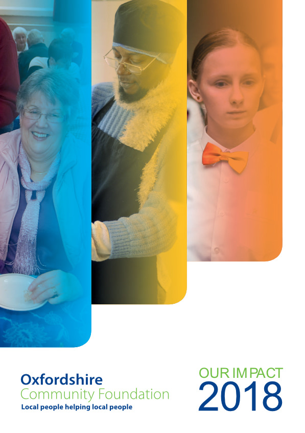 Oxfordshire Community Foundation's Impact report - One-Eighty article p.19 -