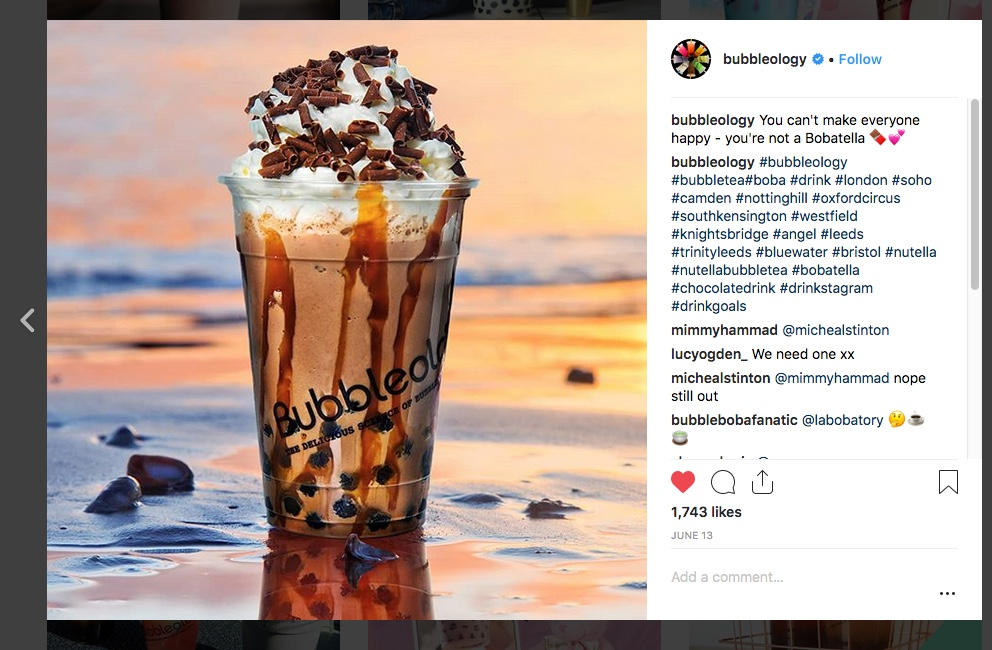 Bubbleology Instagram Screenshot