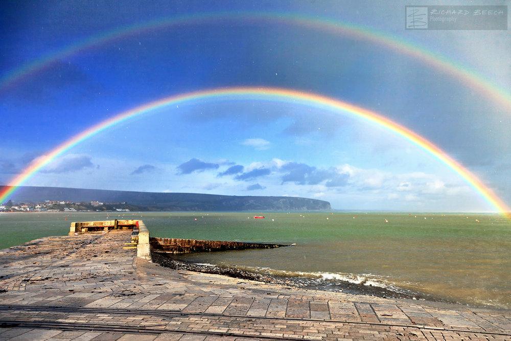 Swanage Double Rainbow