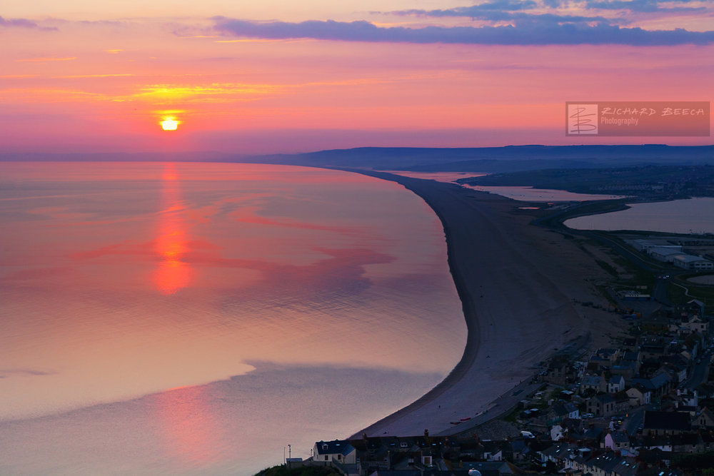 Chesil Pink Sunset