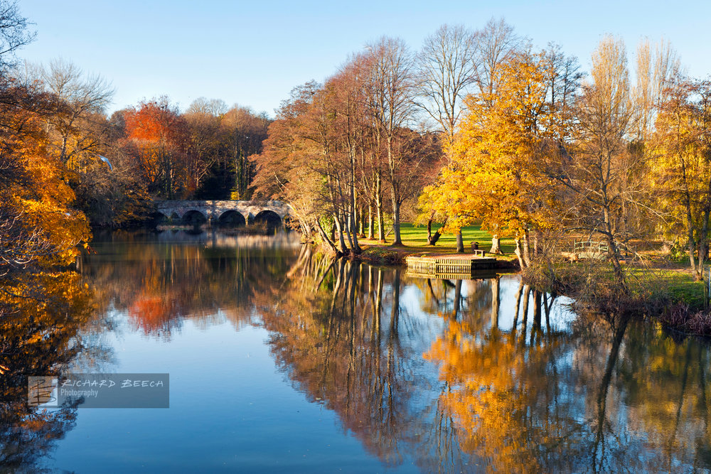 Blandford Forum at Autumn