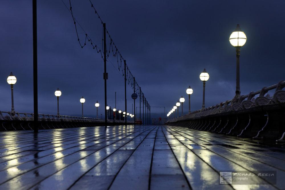 Rainy Night on Torquay Pier