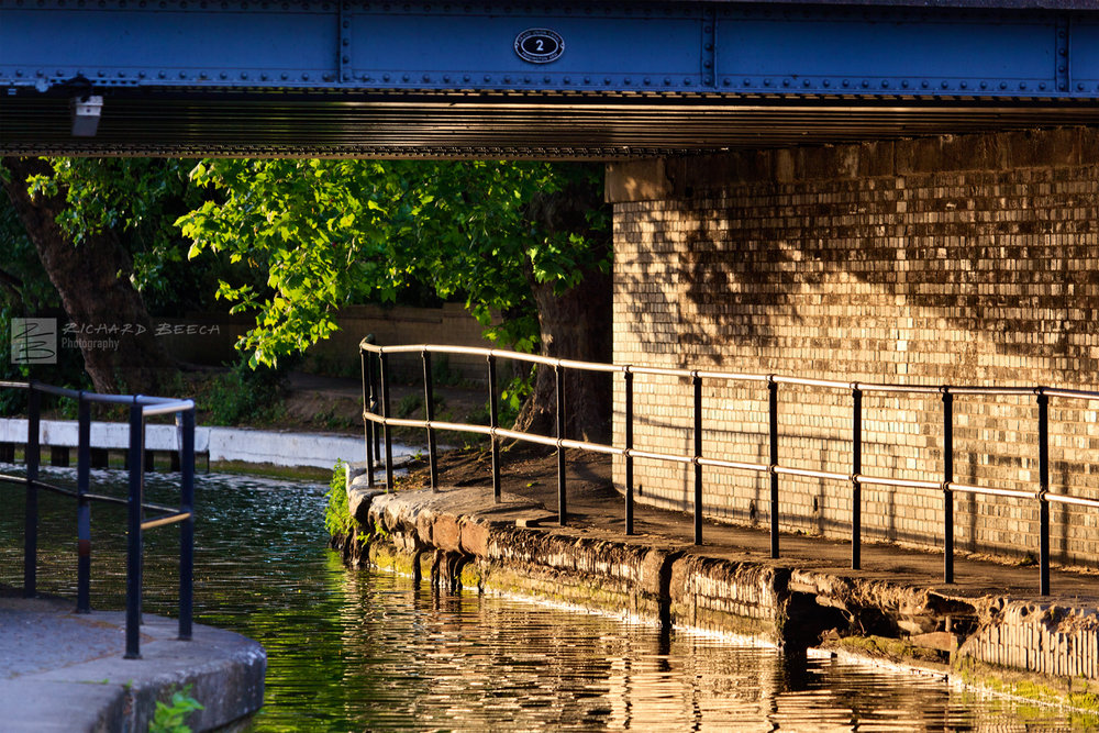 Evening Light under Canal Bridge