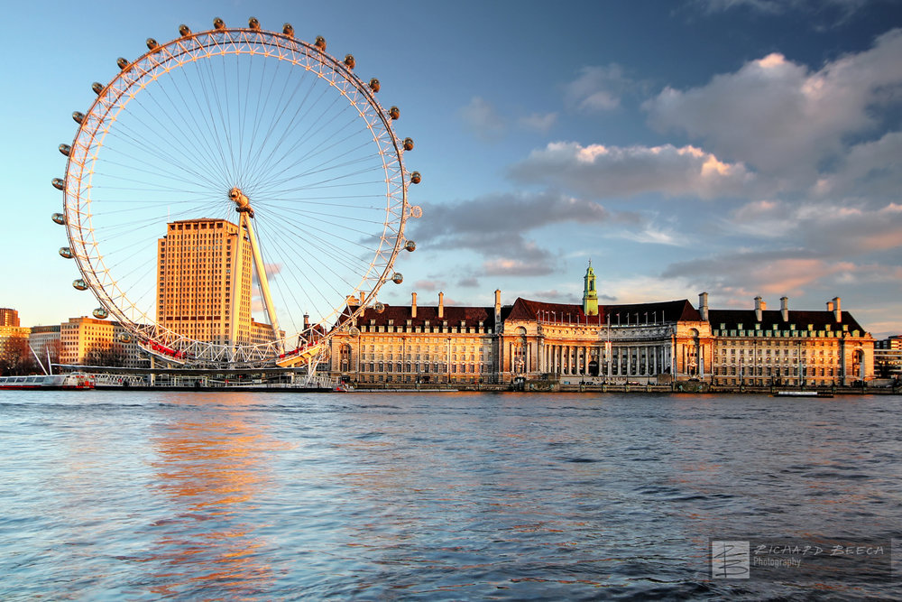 London Eye by Evening Light