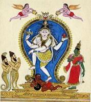 The tiger-footed  Vyaghrapada  and snake-footed Patanjali salute  Nataraja .