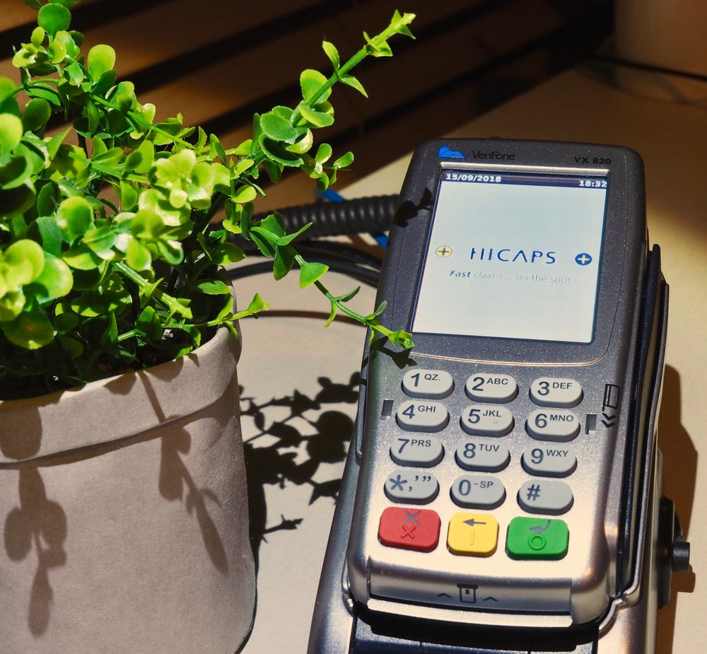 HICAPS & EFTPOS Easy & convenient on-the-spot claiming