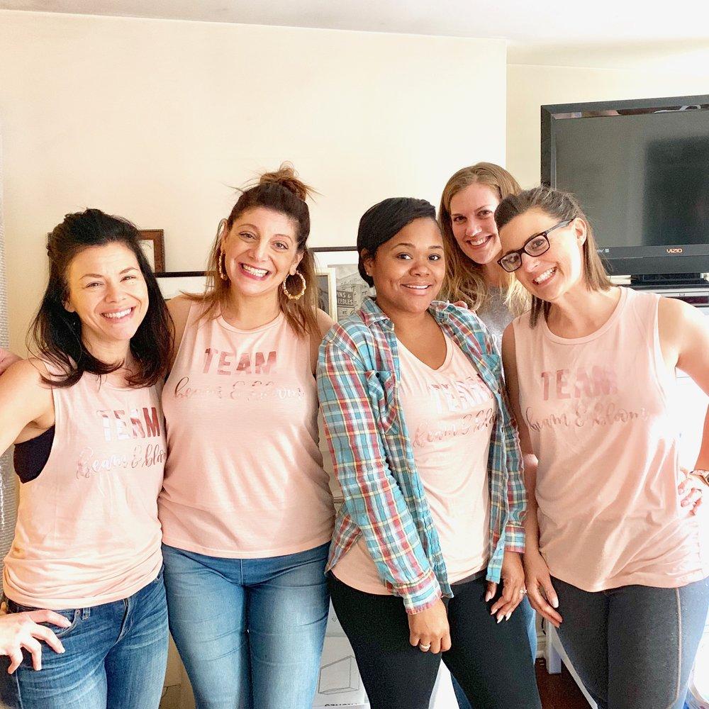 Team beam&bloom  Kristin K., Jackie l., liz l., liz f., noel g.