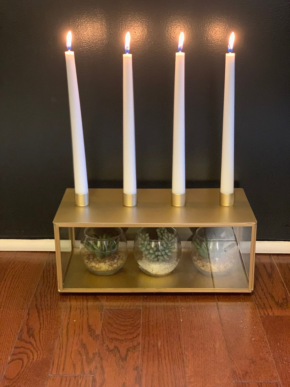 Hearth and Home antique brass candelabra by joanna gaines