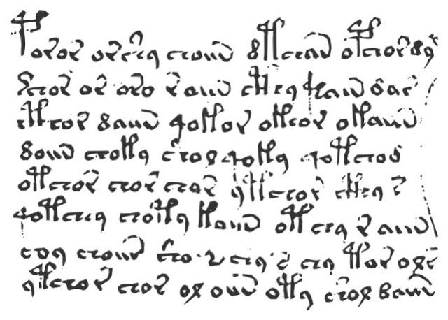 Reproducción de la escritura el códice. Foto: Wikimedia Commons