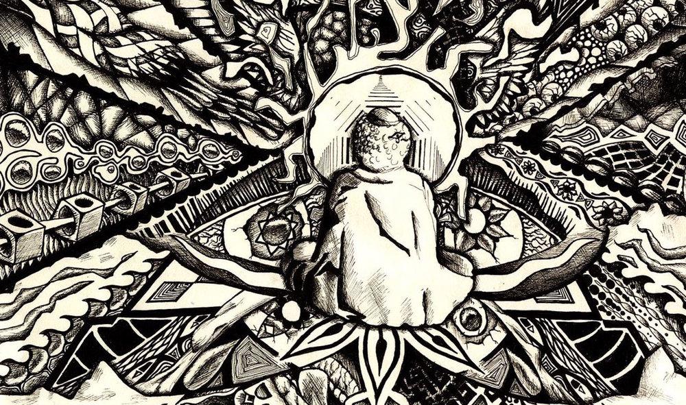 Representación de un viaje psicodélico. Wikimedia Commons