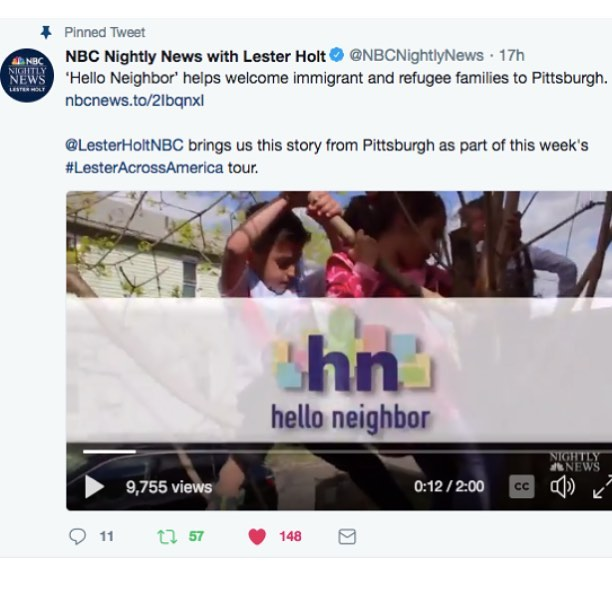 Sometimes our logos are on nationally televised News programs! Woo! - Congratulations to @helloneighborhq on this great coverage of their amazing, necessary work. We are so honored to work with such an incredible organization!!!