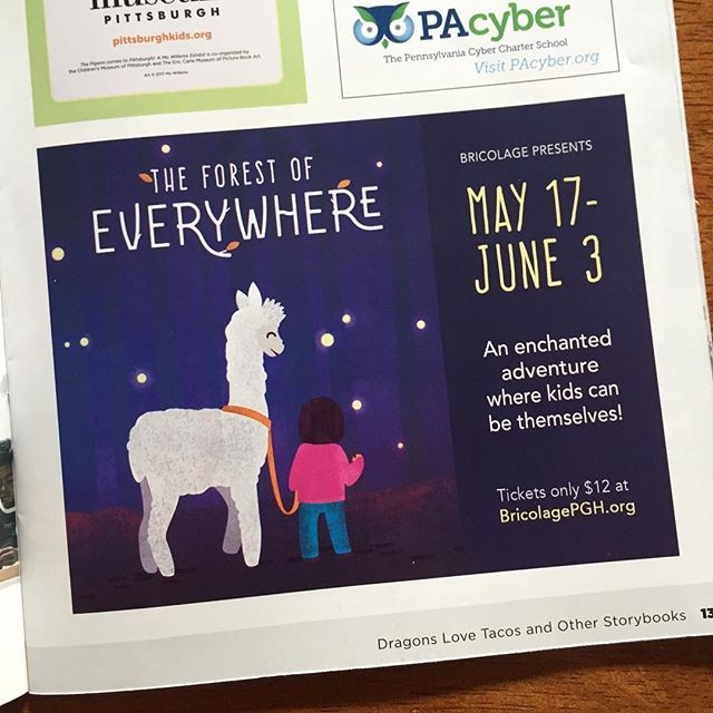 We'll never get tired of seeing our work in the wild! Illustration and title style created in collaboration with @bricolagepgh Be sure to check this show out - it's going to be really amazing!